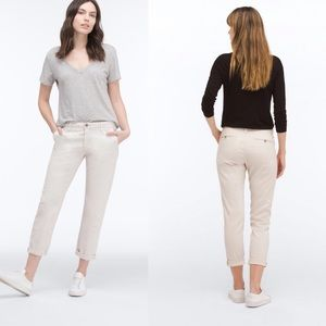AG The Tristan Cream Tailored Trouser